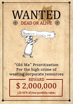 "Download a free ""Old Ma"" Prioritization Wanted Poster"